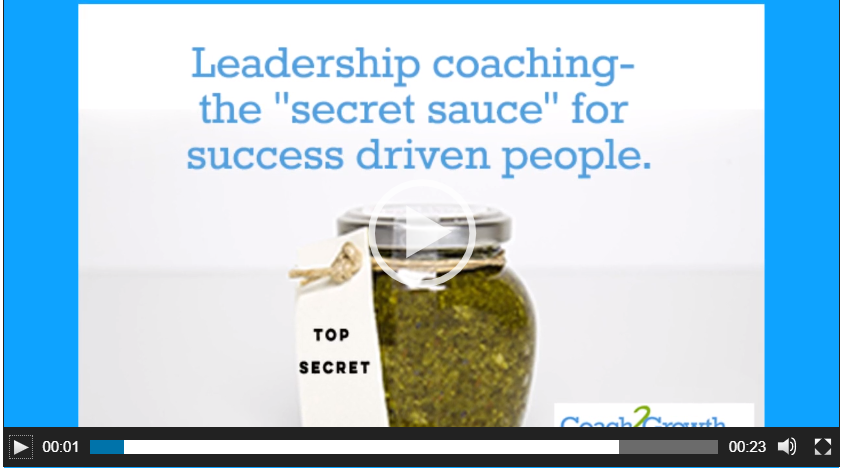 """Leadership Coaching- the """"secret sauce"""" for success driven people"""